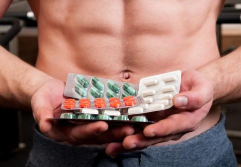 man holding medicines